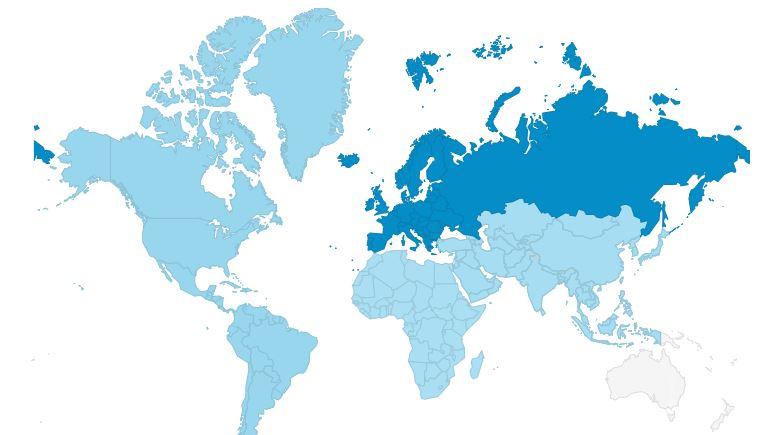 Posete iz celog sveta